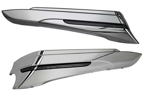 Ciro Saddlebag Extensions (Pair), Fits 97-13 H-D Touring Models, Chrome or Black - Wisconsin Harley-Davidson