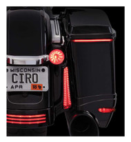 Ciro Bag Blades Red LED Lights, Fits '14-up H-D Touring Models, All Red 40040 - Wisconsin Harley-Davidson