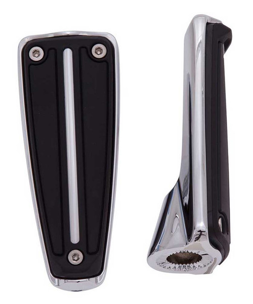 Ciro Rail Footpegs Without Mount - Chrome or Black Finish, Sold in Pairs - Wisconsin Harley-Davidson