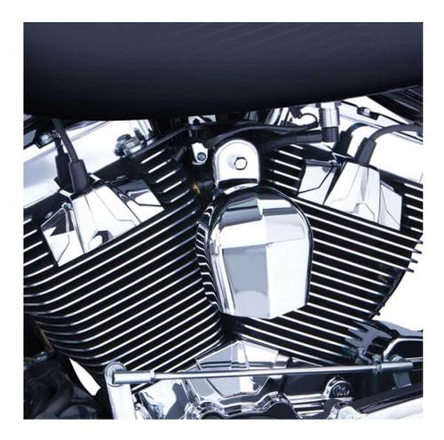 Ciro Spark Plug Huts Fits '99-16 H-D Touring Models, Chrome & Black Finish 70200 - Wisconsin Harley-Davidson