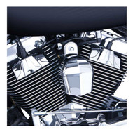 Ciro Spark Plug Huts Fits '99-16 H-D Touring Models, Chrome & Black Finish 70200 - Wisconsin Harley-Davidson