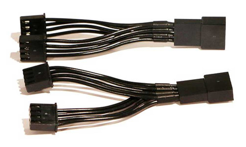 Ciro Rear End Lighting Y-Splitter Connectors - Sold in Pairs - Black 40099 - Wisconsin Harley-Davidson