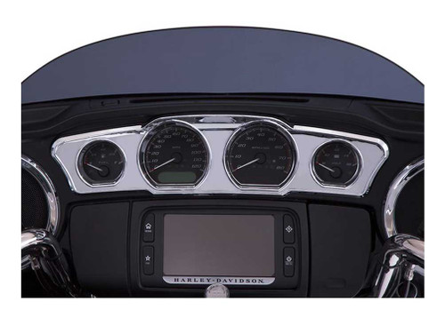 Ciro Dash Accents Unlit, Fits Harley '14-up Touring Models - Chrome Finish 42205 - Wisconsin Harley-Davidson