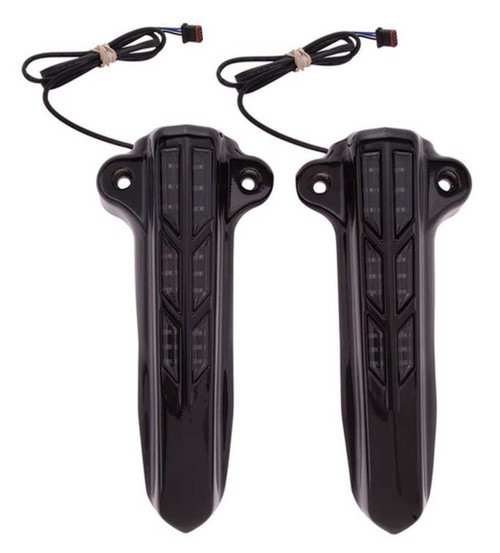 Ciro Lighted Forkini Lower Leg Custom Covers, Sold in Pairs - Chrome or Black - Wisconsin Harley-Davidson