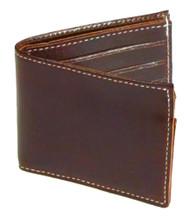 Mascorro Men's Biker Wallet Premium Slim Bi-Fold Genuine Brown Leather CP330 - Wisconsin Harley-Davidson