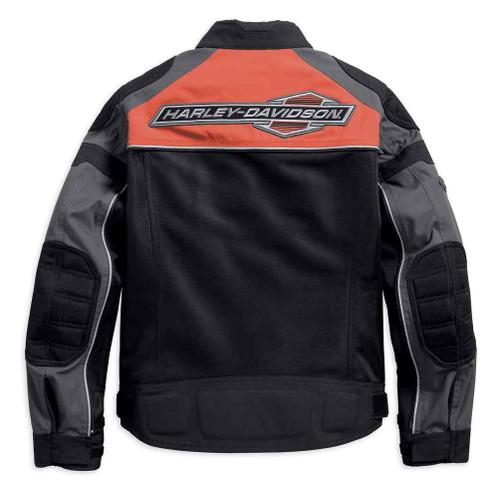 Harley-Davidson Men's Hill City Switchback Riding Jacket Orange Black 97100-18VM - Wisconsin Harley-Davidson