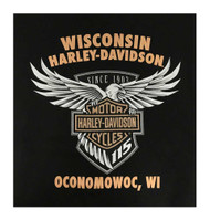 Harley-Davidson Men's 115th Anniversary Touch By Affliction Short Sleeve T-Shirt - Wisconsin Harley-Davidson