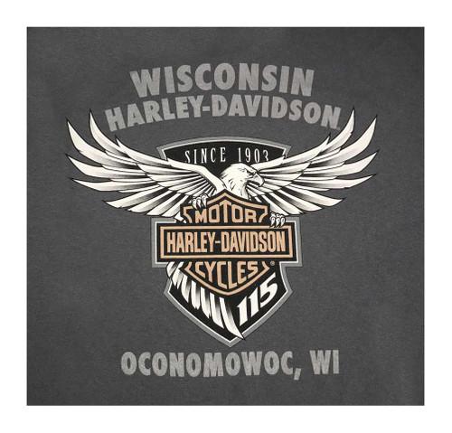 Harley-Davidson Mens 115th Anniversary Reflection Manifesto Short Sleeve T-Shirt - Wisconsin Harley-Davidson