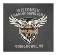 Harley-Davidson Mens 115th Anniversary Reflection Manifesto Short Sleeve T-Shirt - Wisconsin Harley-Davidson