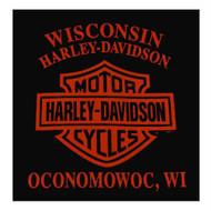 Harley-Davidson Men's Strange Gear Crew Neck Pullover Fleece, Black 5T36-HC71 - Wisconsin Harley-Davidson