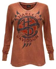 Harley-Davidson Women's Chrome Vengeance Thermal Wash Long Sleeve Tee 5N0S-HF6H - Wisconsin Harley-Davidson