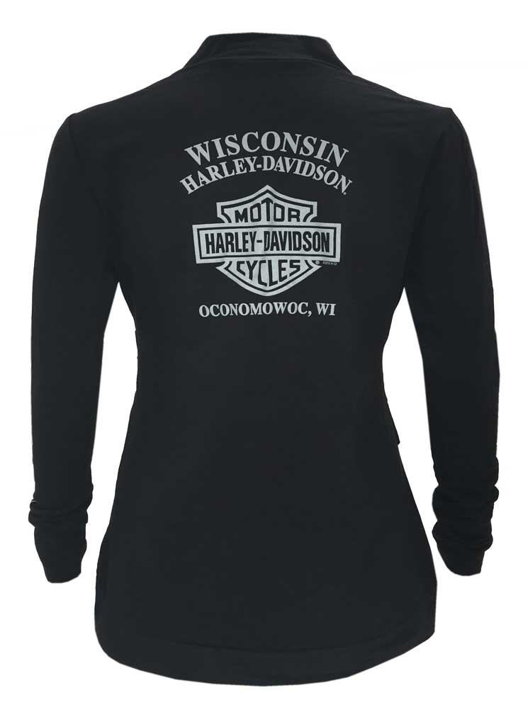 1396503937d7 ... Stretch Shirt, Black - Wisconsin. Harley-Davidson Free Shipping -  Harley-Davidson Women's Swift Wings Long Sleeve Cross Body. See 1 more  picture