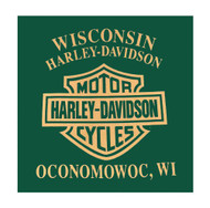 Harley-Davidson Men's Swift Clutch Short Sleeve Crew Neck Tee, Green 5L0H-HF5Y - Wisconsin Harley-Davidson