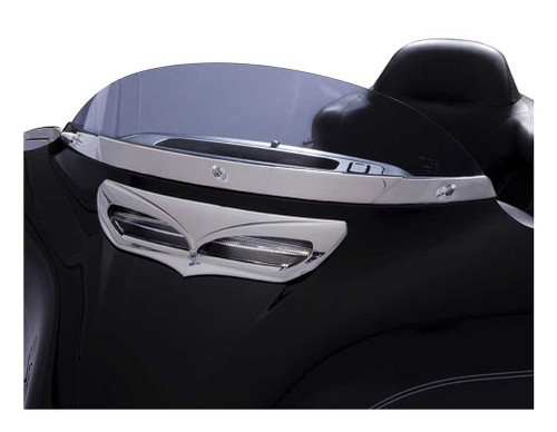 Ciro Windshield Trim Fits Harley  Electra, Street and Tri-Glides Chrome or Black - Wisconsin Harley-Davidson