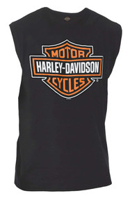 Harley-Davidson Men's Classic Bar & Shield Logo Sleeveless Muscle Tee, Black - Wisconsin Harley-Davidson