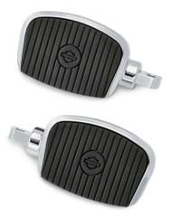 Harley-Davidson Mini Footboard Kit, Small 3.0 inch - Chrome Finish 50500139 - Wisconsin Harley-Davidson
