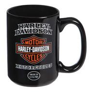 Harley-Davidson American Legend Ceramic Coffee Cup, 15 oz. - Black 3AMB4900 - Wisconsin Harley-Davidson