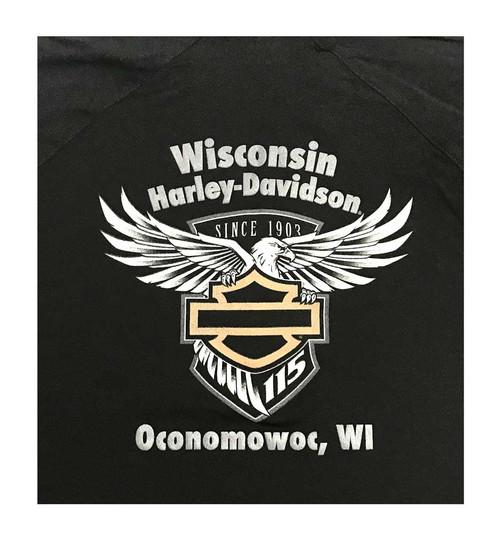 Harley-Davidson Men's 115th Anniversary Wasted Metal Polo Shirt, Black 5N0T-HG4S - Wisconsin Harley-Davidson