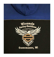 Harley-Davidson Men's 115th Anniversary Wicked Full-Zip Hoodie, Hooded Jacket - Wisconsin Harley-Davidson