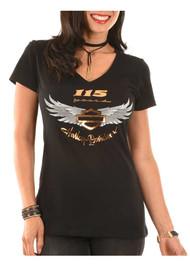 Harley-Davidson Women's 115th Anniversary Just Believe Short Sleeve Tee, Black - Wisconsin Harley-Davidson