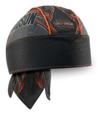 Harley-Davidson Men's Tribal Edge Piping Perforated Headwrap, Black HW29364 - Wisconsin Harley-Davidson