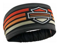 Harley-Davidson Women's Summer Asphalt Headband Scrunchie, Black HE29238 - Wisconsin Harley-Davidson