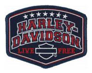 Harley-Davidson Embroidered Harley Pride Emblem Patch, SM 4 x 3.0625 in EM299842 - Wisconsin Harley-Davidson