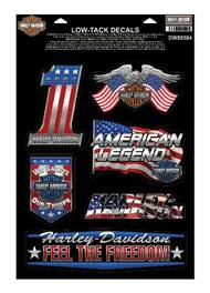 Harley-Davidson Patriotic Assortment Chrome Window Cling - 8.5 x 12.5 in DW88584 - Wisconsin Harley-Davidson
