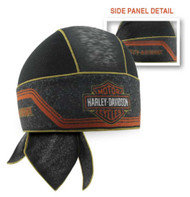 Harley-Davidson Men's Bar & Shield Asphalt Mesh Headwrap, Black HW29464 - Wisconsin Harley-Davidson