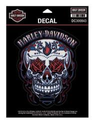 Harley-Davidson Muertos Skull Decal, MD Size - 5.25 x 6.375 inches DC300843 - Wisconsin Harley-Davidson