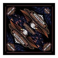 Harley-Davidson Men's Vintage Logo Bandana - Black, 24 x 24 inch BA28966 - Wisconsin Harley-Davidson
