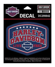 Harley-Davidson H-D American Pride Decal, SM Size - 4 x 3.0625 inches DC299842 - Wisconsin Harley-Davidson