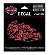 Harley-Davidson Flames H-D Decal, SM Size - 4 x 2.4375 inches DC295812 - Wisconsin Harley-Davidson