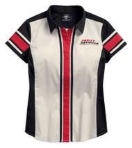 Harley-Davidson Women's Vertical Stripe Colorblock Woven Shirt 96203-18VW - Wisconsin Harley-Davidson