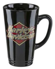 Harley-Davidson Core H-D Logo Latte Mug, 16 oz. - Gloss Black HDX-98608 - Wisconsin Harley-Davidson