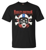 Harley-Davidson Men's RWB Helmet Skull Short Sleeve Crew Neck T-Shirt, Black - Wisconsin Harley-Davidson