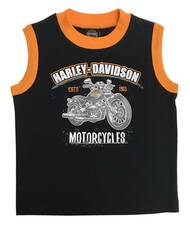 Harley-Davidson Little Boys' H-D Motorcycle Jersey Muscle Tee - Black 1072825 - Wisconsin Harley-Davidson