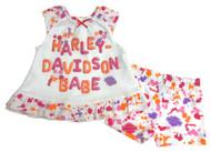 Harley-Davidson Baby Girls' Interlock Aline Sundress & Shorts Set, White 2002817 - Wisconsin Harley-Davidson