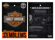 Harley-Davidson Genuine Bar & Shield Logo Leather Emblem Patch, 4 x 3 inches - Wisconsin Harley-Davidson