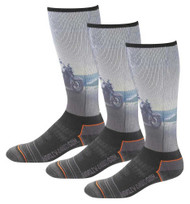 Harley-Davidson Men's Bike Graphic Wicking Riding Socks, 3 Pairs D99218670-001 - Wisconsin Harley-Davidson