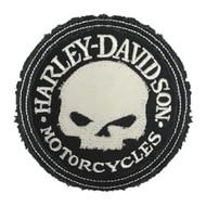 Harley-Davidson Genuine Willie G Skull Frayed Emblem Patch, 3.5 in. HDEMF1016 - Wisconsin Harley-Davidson