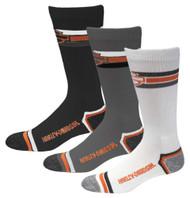 Harley-Davidson Wolverine Men's 3 Pack Retro Rider Wicking Socks D99218870-990 - Wisconsin Harley-Davidson