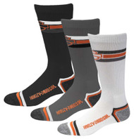Harley-Davidson Wolverine Men's 3 Pack Retro Rider Wicking Socks D99218870-990 - Wisconsin Harley-Davidson
