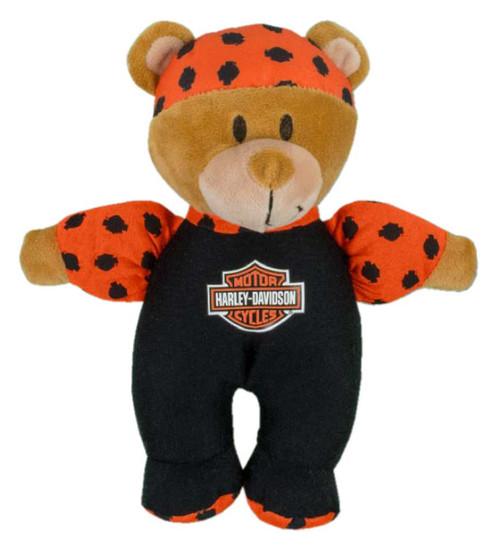 Harley-Davidson Harley Dude 8in. Shake Rattles & Roll Bear, Black/Orange 9950841 - Wisconsin Harley-Davidson
