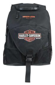 Harley-Davidson Vintage Bar & Shield Voyager Backpack, Black BP4165S-ORGBLK - Wisconsin Harley-Davidson
