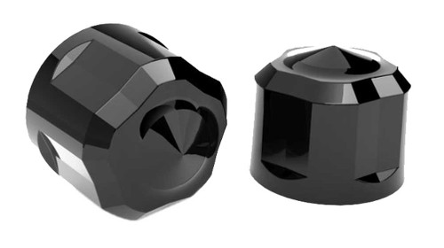 Ciro Diamond Cut Low Crown Bolt Caps Add on Kit - Painted Black Finish - Wisconsin Harley-Davidson