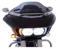 Ciro Fang LED Headlight Bezels, Fits Harley '15-up Road Glides, Chrome or Black - Wisconsin Harley-Davidson