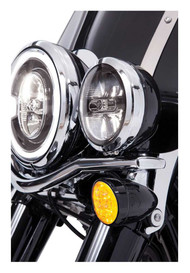 Ciro Fang LED Signal Light Amber Inserts, Multi-Fit Item - Chrome or Black - Wisconsin Harley-Davidson