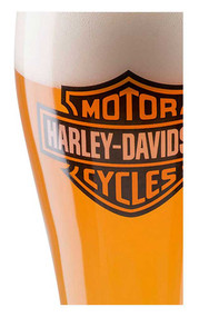 Harley-Davidson Core Bar & Shield Logo Pilsner Glass - 22 oz. HDX-98709 - Wisconsin Harley-Davidson