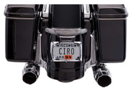 Ciro Latitude Tail Light & License Plate Holder - Chrome, Fits '10-'13 & '14-up - Wisconsin Harley-Davidson